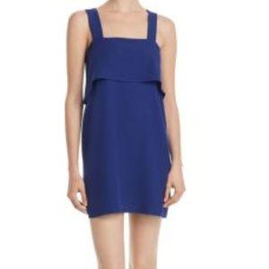 Aqua Blue Sleeveless Overlay Dress